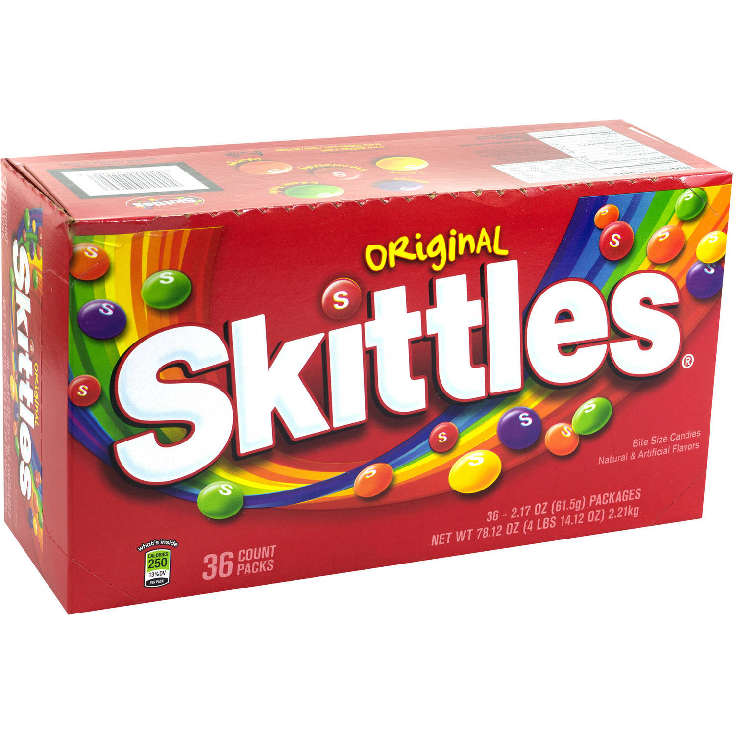 Original Skittles Bite Size Candy Bags, 2.17 oz, 36 count