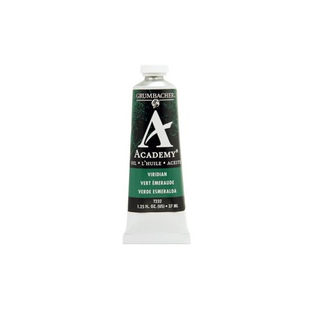 Grumbacher Academy Oil Color, 37ml Tube, Viridian Hue