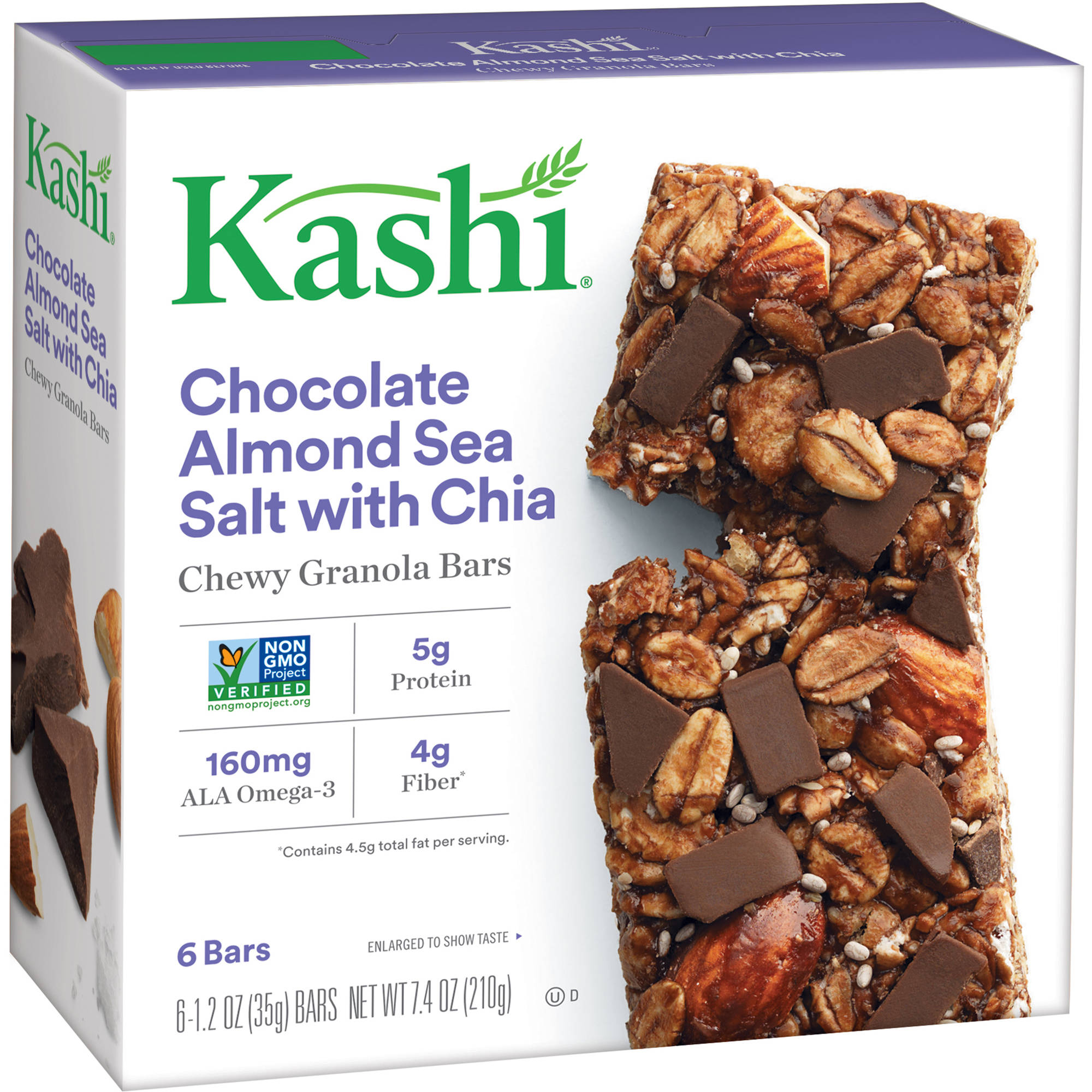 Kashi Chewy Granola Bars Chocolate Almond Sea Salt 1.2 Oz - 6 Ct ...