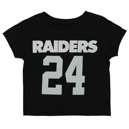 - NFL Toddler Oakland Raiders Marshawn Lynch #24 Mainliner SS Tee, Black