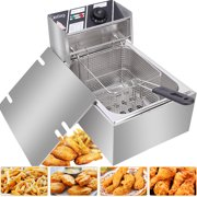 Zimtown 6L 2500W Electric Deep Fryer Commercial Tabletop Restaurant Frying Basket