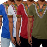 Hot fashion Mens African Clothing Dashiki Style Cotton Printing Tops Man T-Shirt