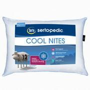 Sertapedic Cool Nites Bed Pillow, Standard/Queen