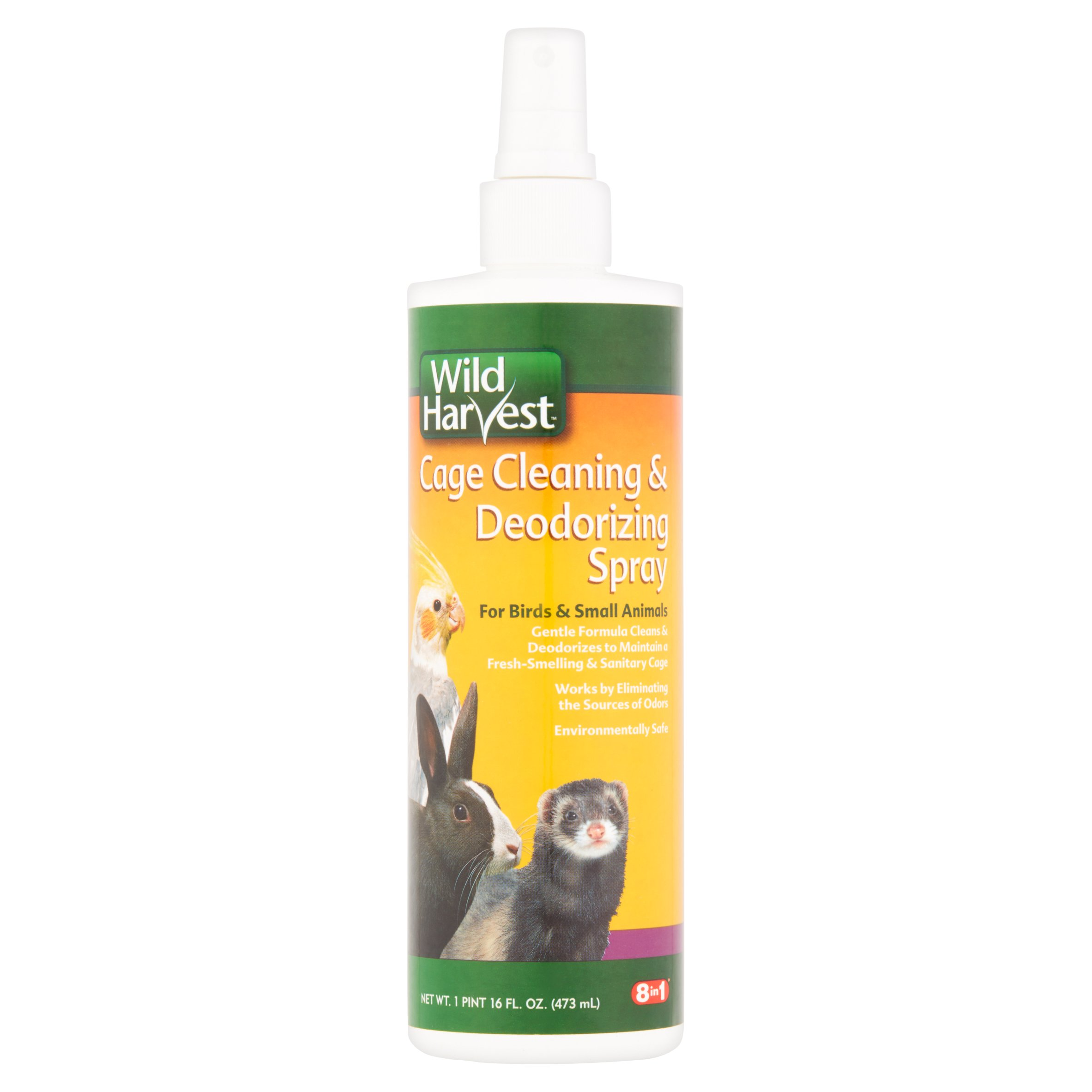 Wild Harvest Cage Cleaning & Deodorizing Spray, 16oz