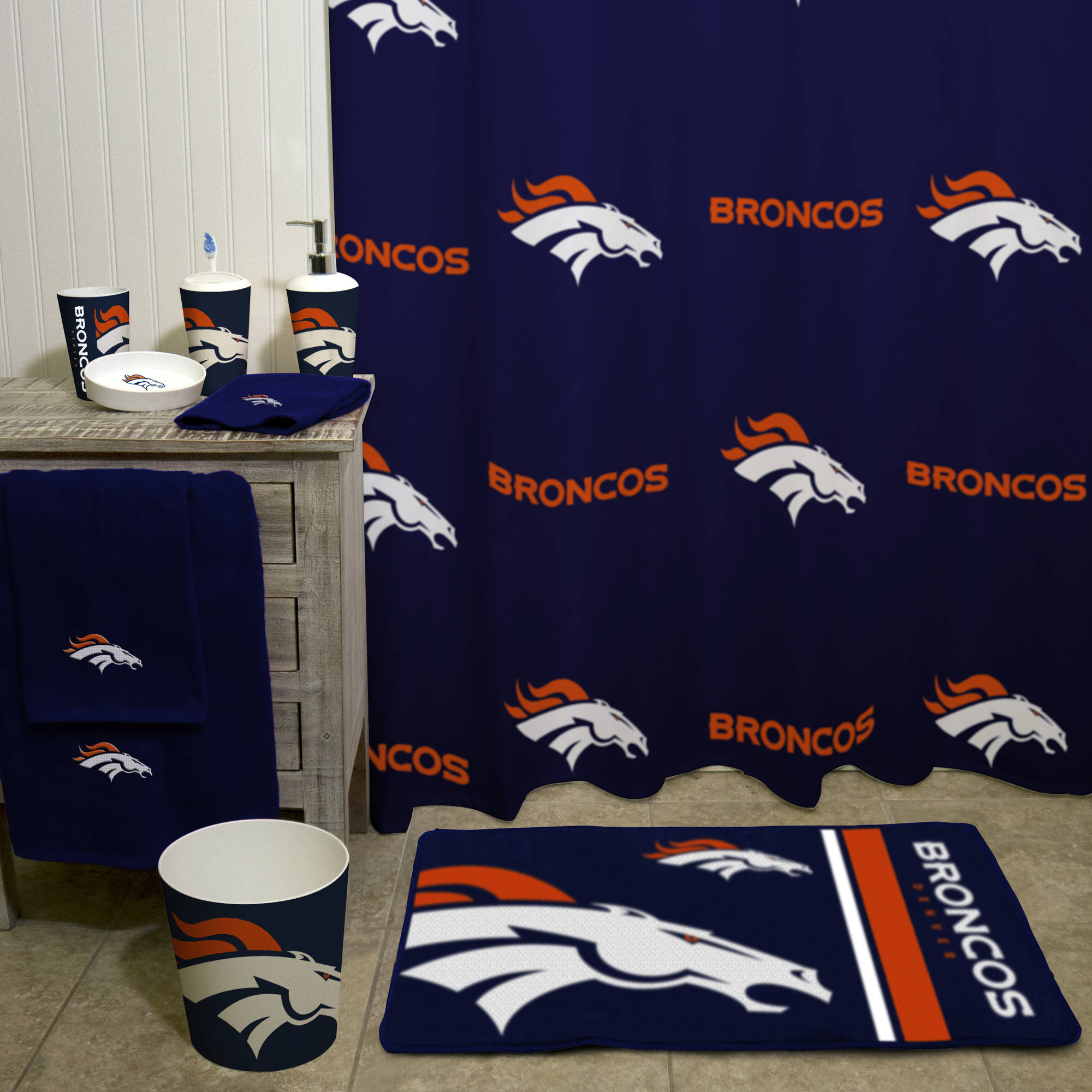 Denver Broncos Bath Towel