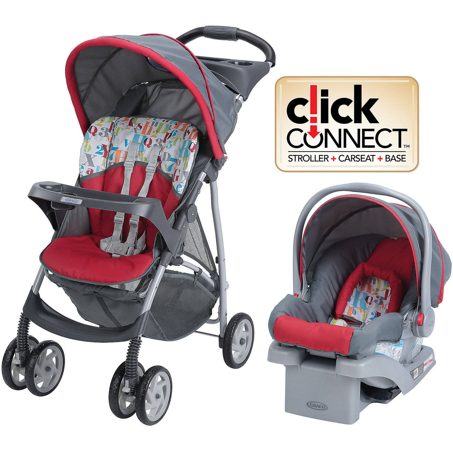 Graco LiteRider Click Connect Travel System, with SnugRide Click ...