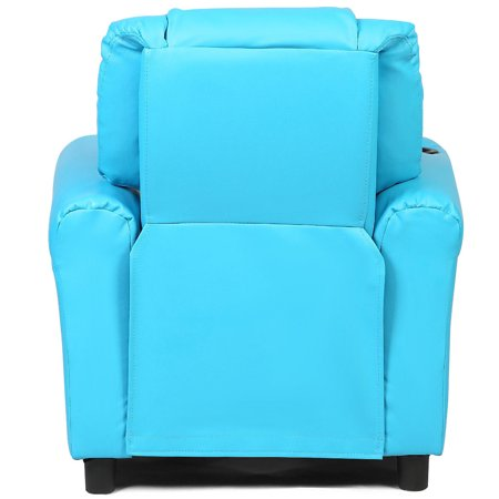 Kids Recliner Armchair Sofa Chair Couch Seat w/ Cup Holder Home Furniture Blue - image 3 de 10