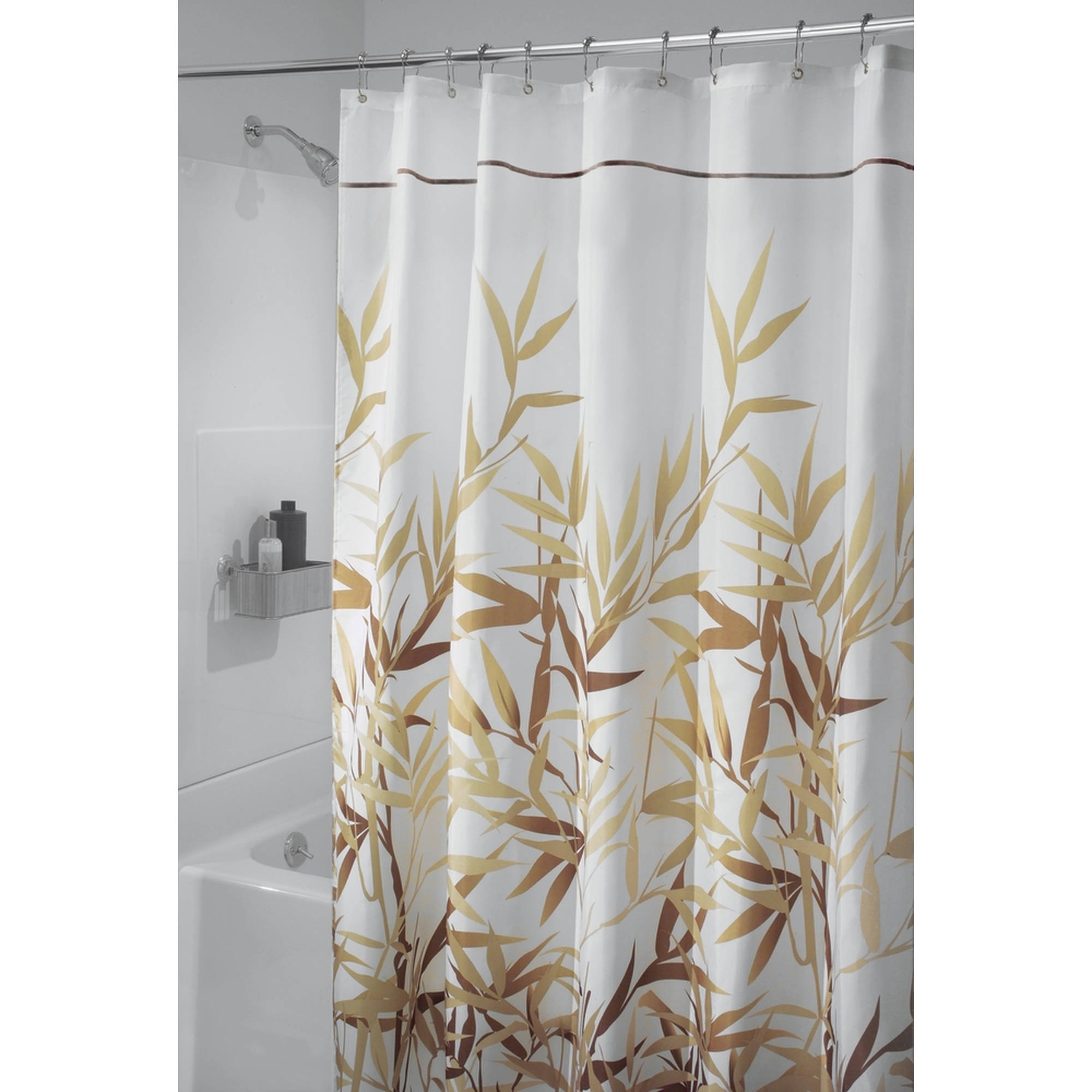interdesign anzu fabric shower curtain stall