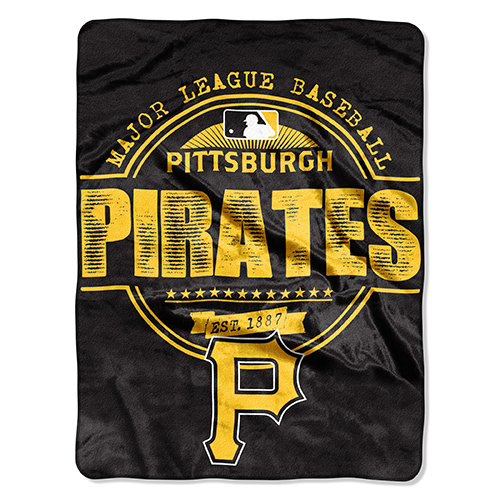 "Pittsburgh Pirates The Northwest Company 46"" x 60"" Structure Micro Raschel Plush Blanket - No Size"