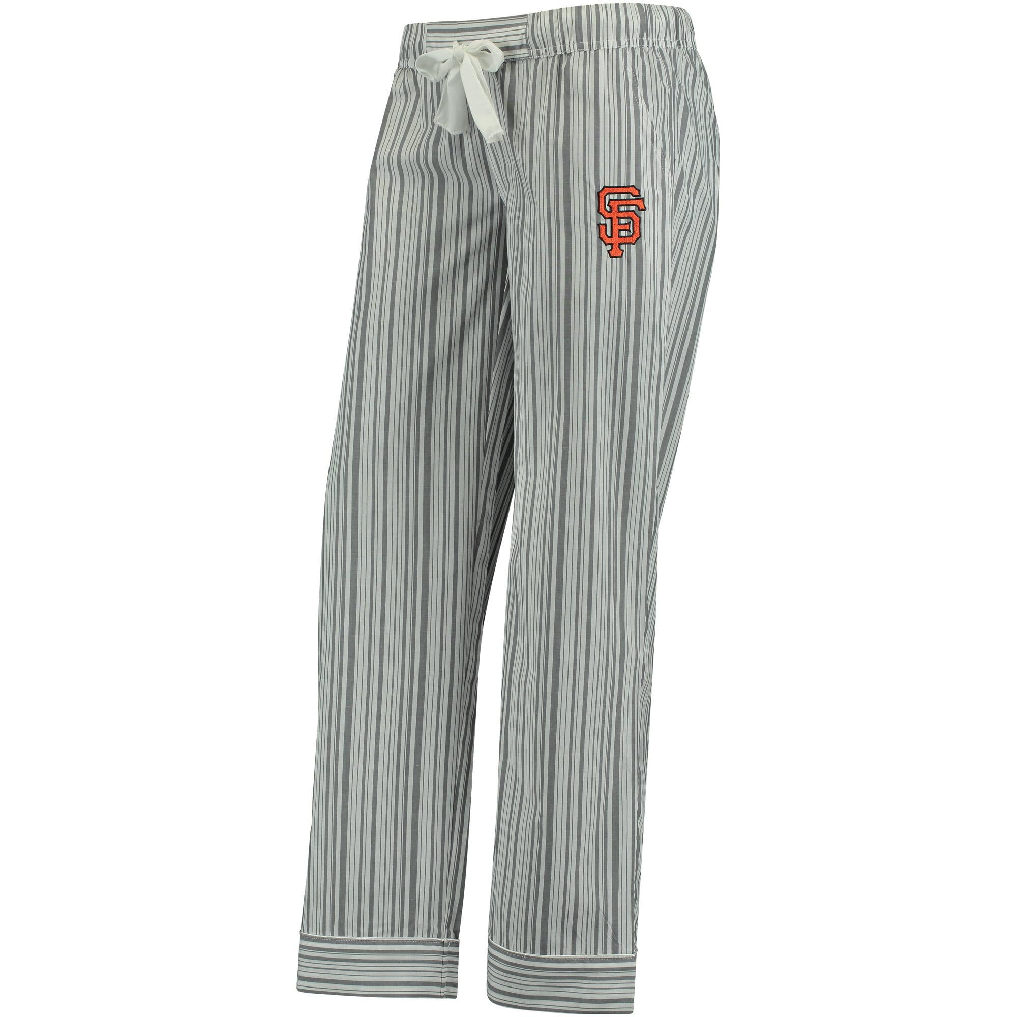 San Francisco Giants Concepts Sport Women's Principle Woven Lounge Pants - Charcoal/White