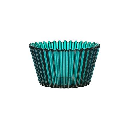 Kosta Boda Cupcake Design Decorative Glass Serving Bowl and Home Decor - Turquoise