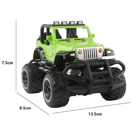 1:43 Mini RC Off-road Cars 4 Channels Electric Vehicle Model Toys as Gifts for Kids Color:blue - image 4 de 5