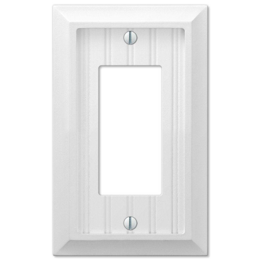 cottage white wood single gfci decora rocker wall plate dimmer switch cover