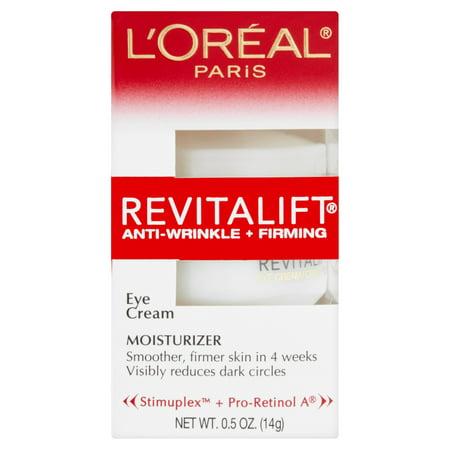 L'Oréal Paris Revitalift Anti-rides + Fermeté Crème Contour des Yeux Crème hydratante, 0,5 oz