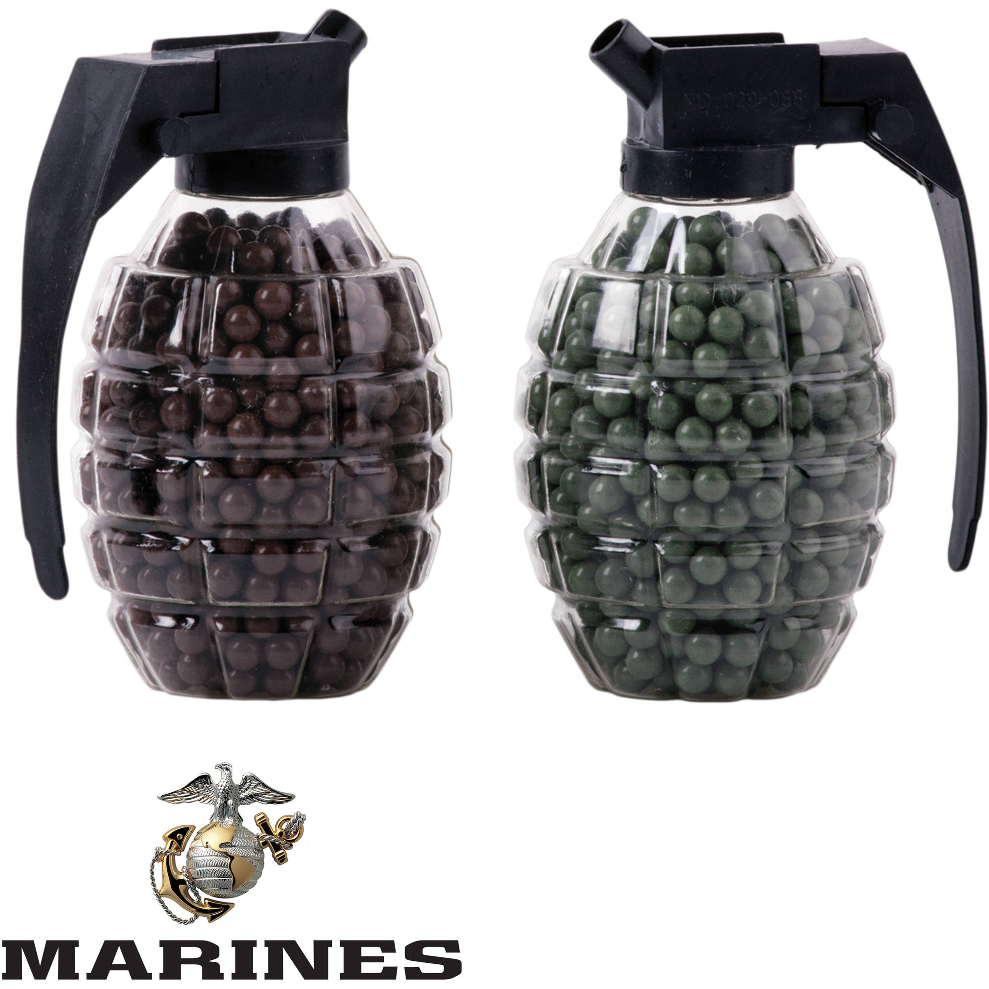 U.S. Marines by Crosman, .20 Gram Airsoft Ammo in Reusable Grenade Loaders, 1,600ct