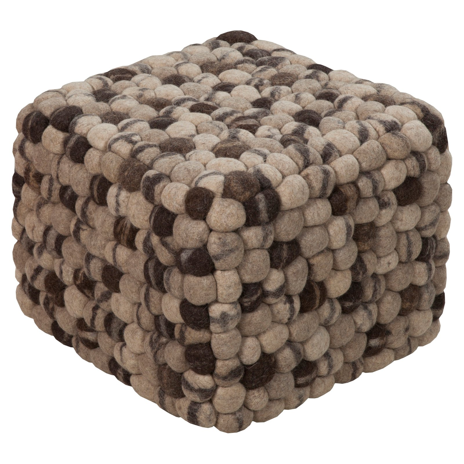 Surya 18 in. Pebble Square Wool Ottoman by Surya