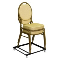 Lancaster Home Hercules Series Steel Stack Chair and Church Chair Dolly