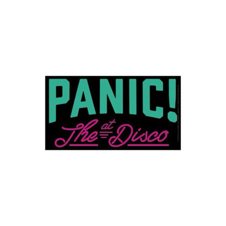 Panic at the disco rock band music bumper sticker decal by superheroes brand