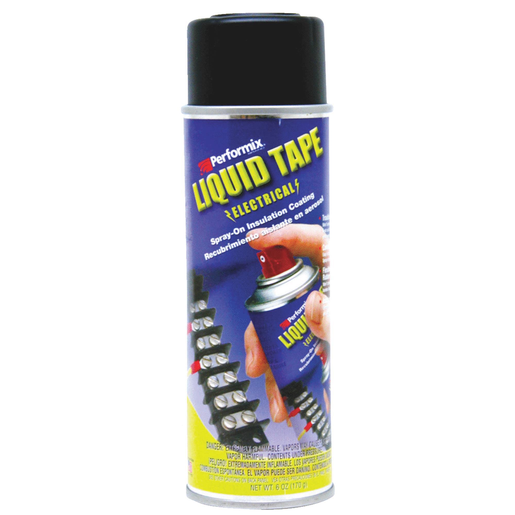 Performix Plasti Dip 16003 Liquid Electrical Tape Coating, Black, 6 oz.