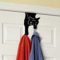 Evelots Over The Door Hanger Hooks-Kitty Cat-20 Pound ea.-No Tool-No Rust-Iron