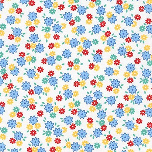Penny's Pets~Lake -Blue Flowers~Cotton Fabric by Kaufman