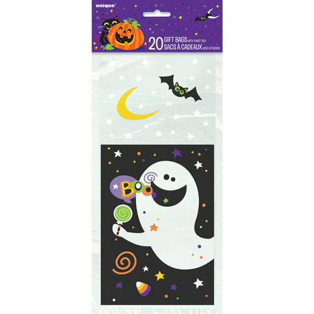 Halloween Goodie Bags (Plastic Happy Halloween Candy Bags,)