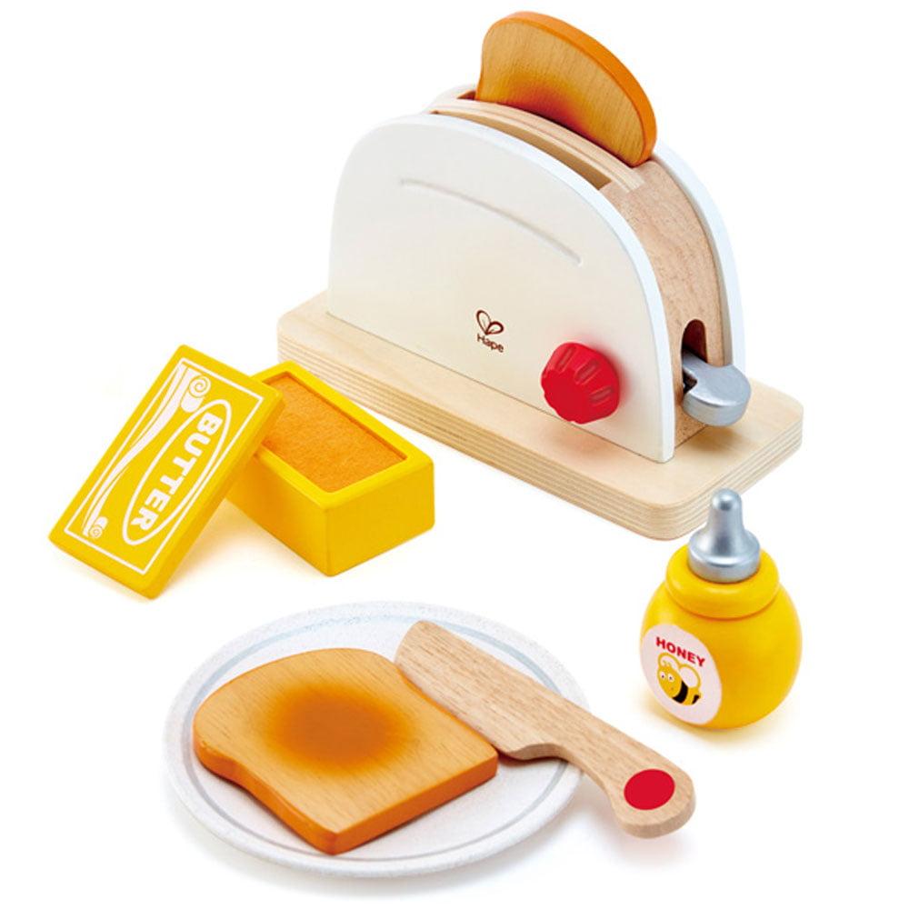 Hape Pop Up Toaster Kids Wooden Pretend Kitchen Toaster Appliance Play Set Toy Walmart Com Walmart Com