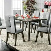 Abelone Rectangular Gray Dining Table