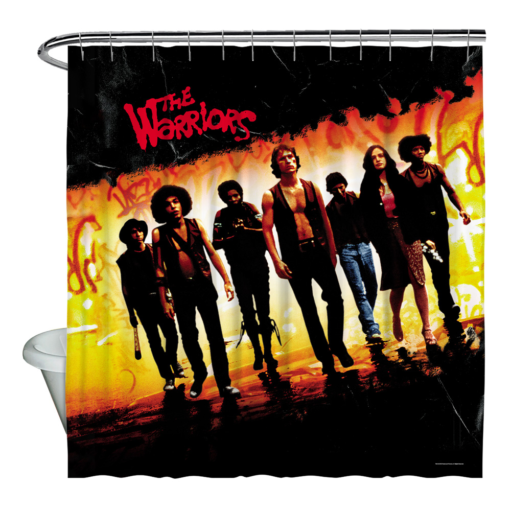 Warriors Walk Shower Curtain White 71X74