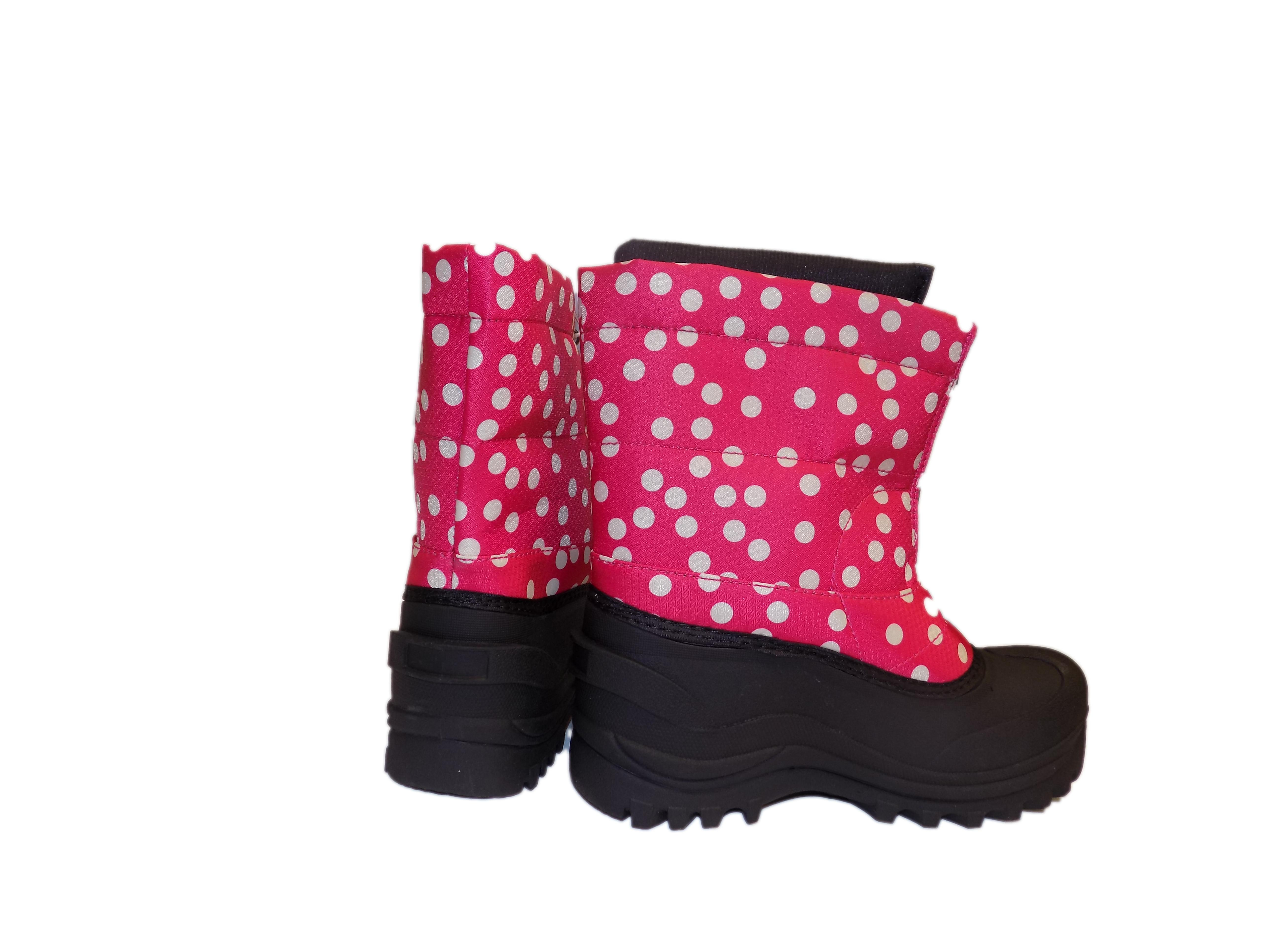 Cold Front Pink POLKA DOT STOMPER Warm Winter Snow Boots by Cold Front