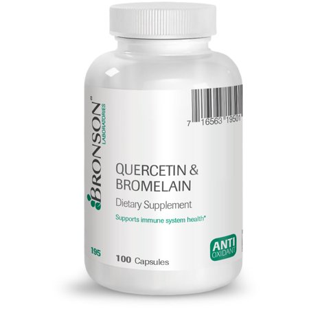 Bronson Quercetin and Bromelain, 100 Capsules