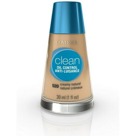 CoverGirl Clean Oil Control Liquid Makeup, Creamy Natural [520] 1 oz Double Matte Oil Control Makeup