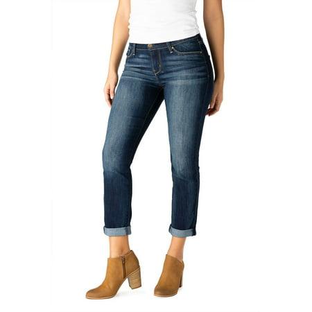 Signature by Levi Strauss & Co. Women's Modern Slim Cuffed Jeans