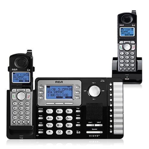 RCA ViSYS 25212 + (1) 25055RE1 25212 2-Line DECT 6.0 Cordless Phone