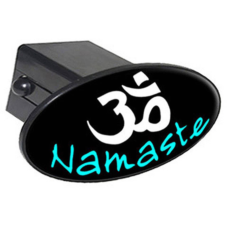 "Namaste Om Aum Yoga 2"" Oval Tow Trailer Hitch Cover Plug Insert"