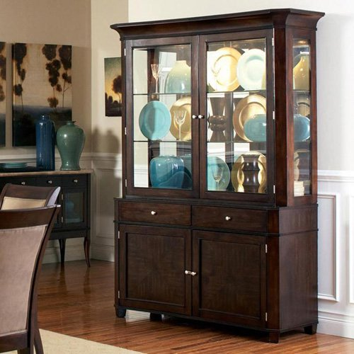 Steve Silver Marseille China Cabinet   Dark Cherry