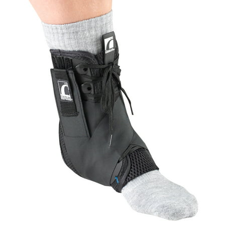 OTC Exoskeleton Ankle Stabilizer, Heel Locking Straps, Black, Medium