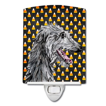 Scottish Deerhound Candy Corn Halloween Ceramic Night Light SC9669CNL - Scottish Name For Halloween