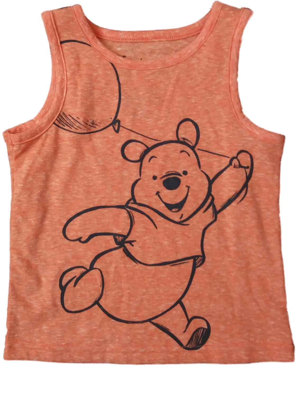 Infant Baby Boys Disney Winnie The Pooh Orange Balloon Tank Top Muscle Shirt