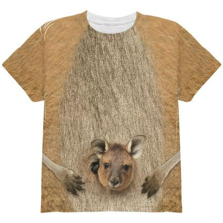 Halloween Kangaroo Costume All Over Youth T Shirt - Kangaroo Costume