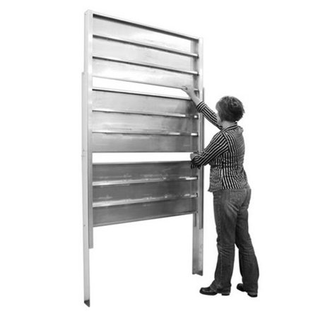 Prairie View RT207448-3 Aluminum Retractable Shelving with 3 Tier - 74 x 20 x 48 - Retractable Shelf