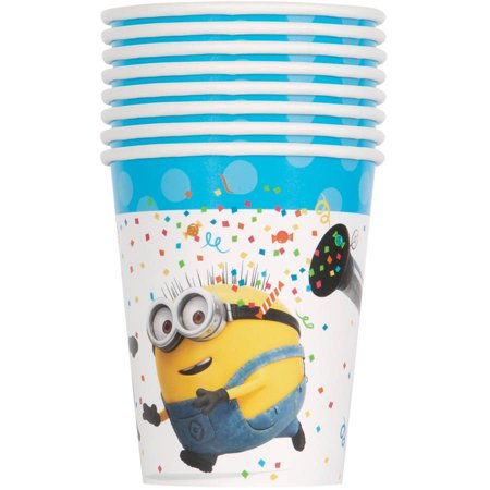 Despicable Me Minions Paper Cups, 9 oz, 8ct