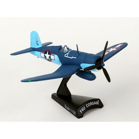 Postage Stamp F4U Corsair VMF-422 1st Lt. Stout 1:100 Scale Model Plane