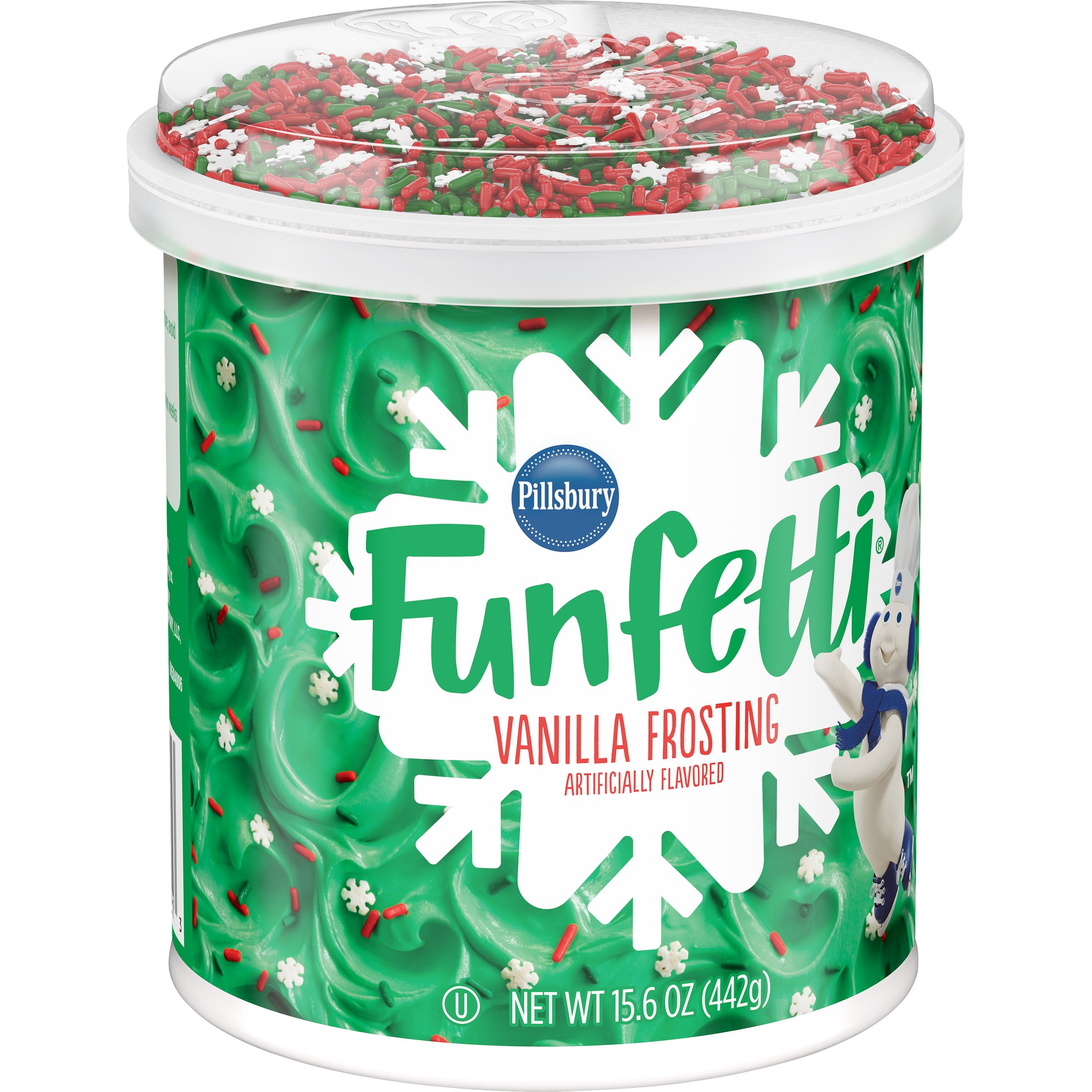 Pillsbury Holiday Funfetti Frosting, 15.6-Ounce