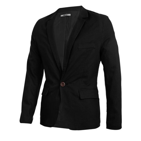 Double Breasted Flap Pocket Suit - Men Slim Fit Double Flap Pockets Lining Casual Blazer