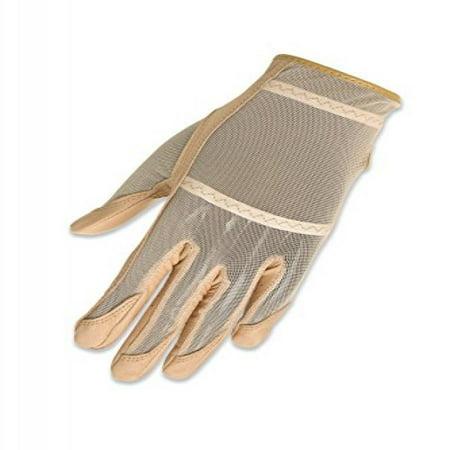 Full Hands Gloves - HJ Glove Women's Beige Solaire Full Length Golf Glove, Medium, Left Hand