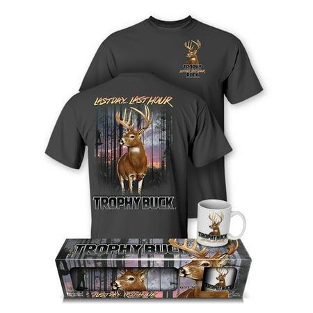 Whitetail Deer Trophy Buck Hunting T-Shirt and Mug Premium Gift Set (XX-Large)