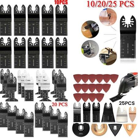 10/20/25 PCS Oscillating Saw Blades Multimaster Multitool High carbon steel saw blade Wood Cutting Blade Tool Kit