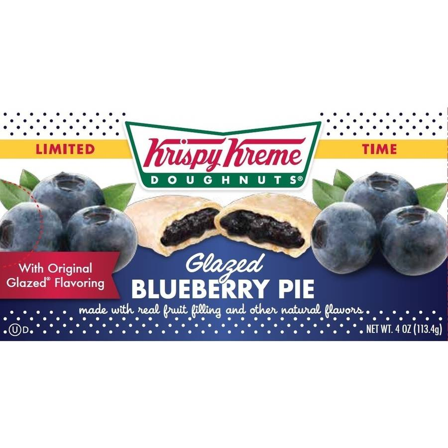 Krispy Kreme Seasonal Glazed Pumpkin Pie Fruit Pie, 4 oz