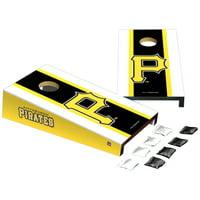 Pittsburgh Pirates Stripe Design Desktop Cornhole Game Set